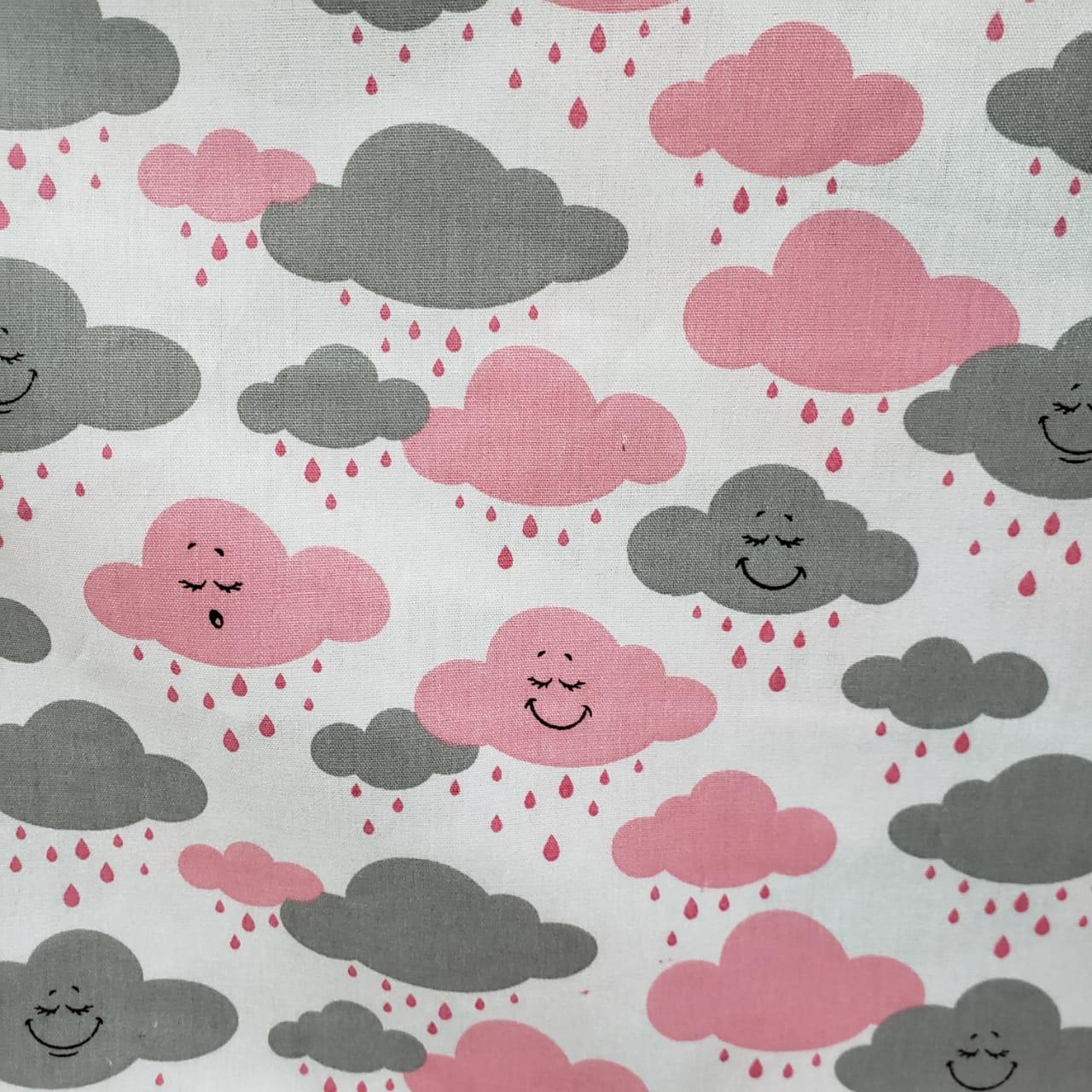 Nuvem Rosa com Cinza