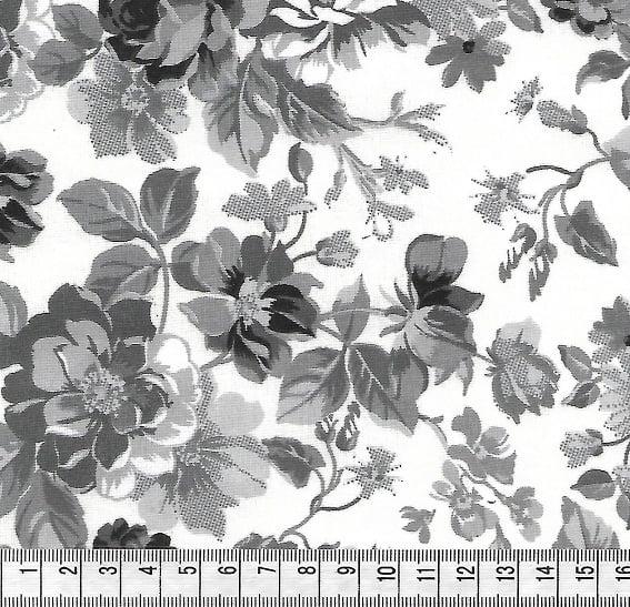 Floral Cinza