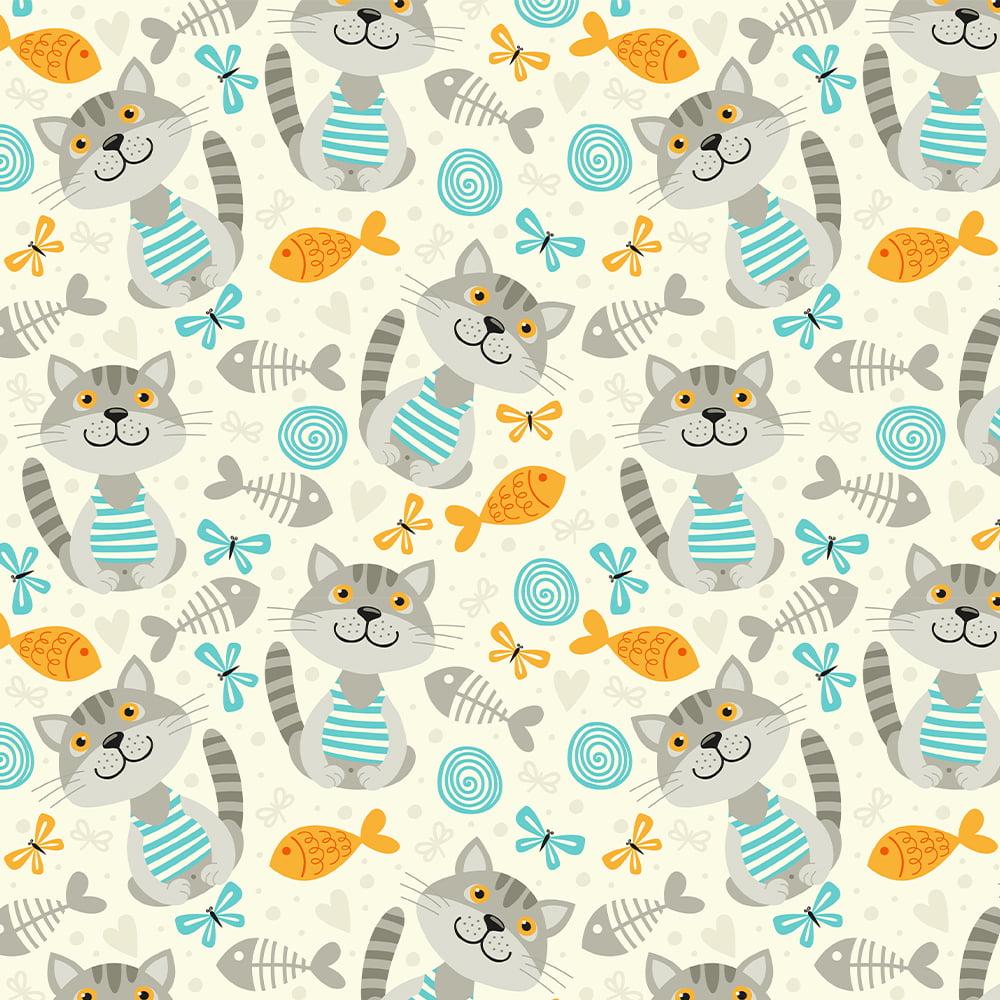 Tecido Tricoline Cat Lovers  - Cat 10