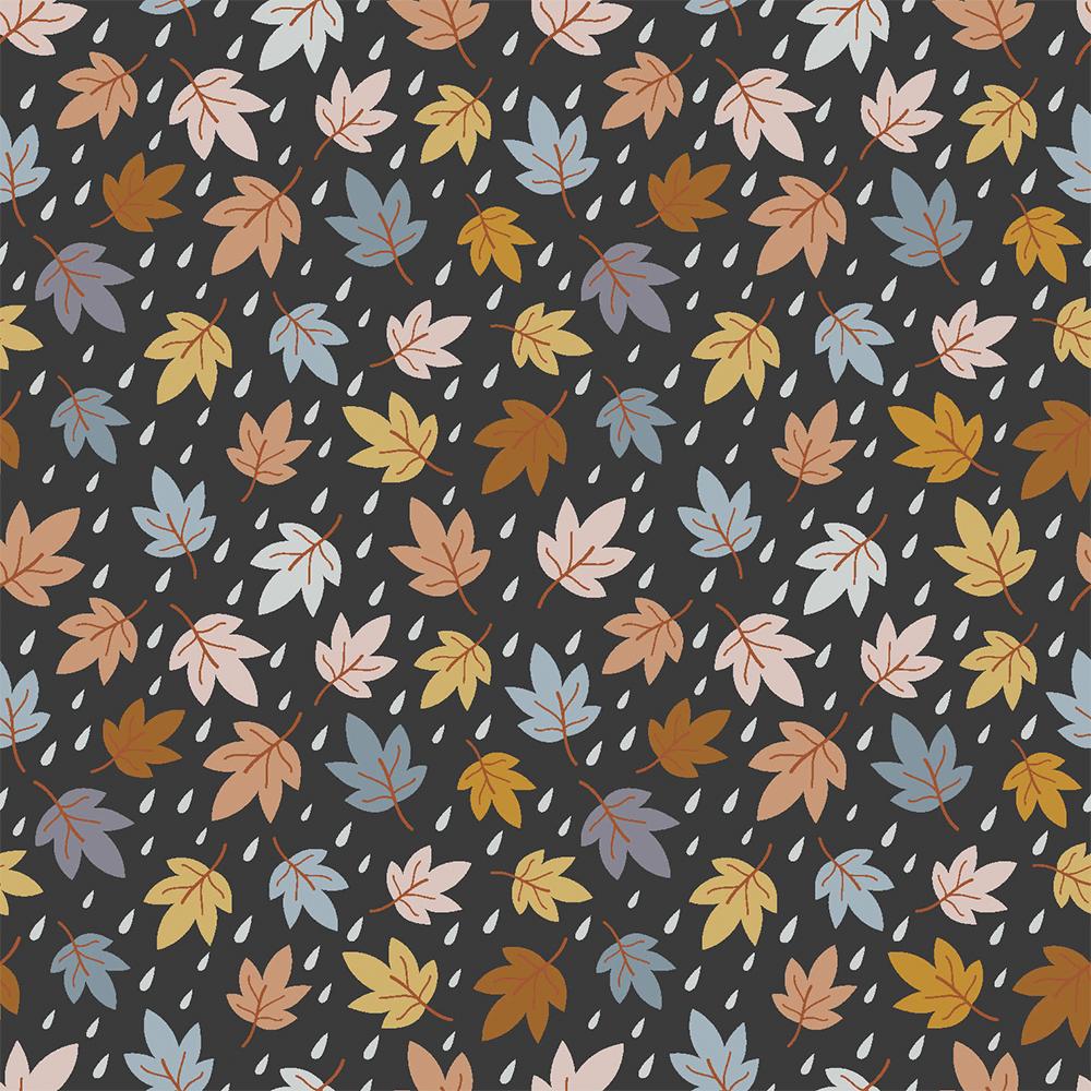 Tecido Tricoline Mini Fall Leaves