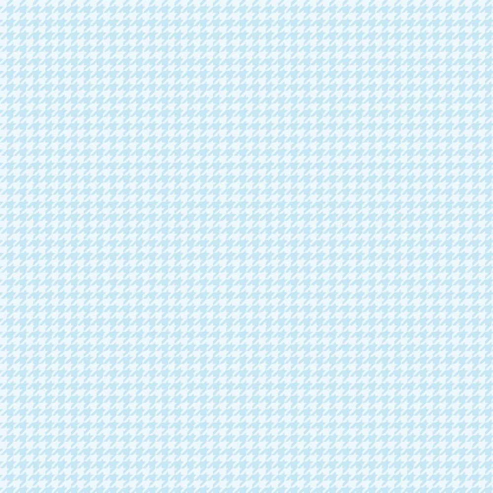 Tecido Tricoline Pied de Poule Azul Claro