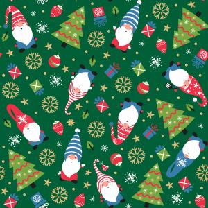 Tecido Tricoline Natal Verde
