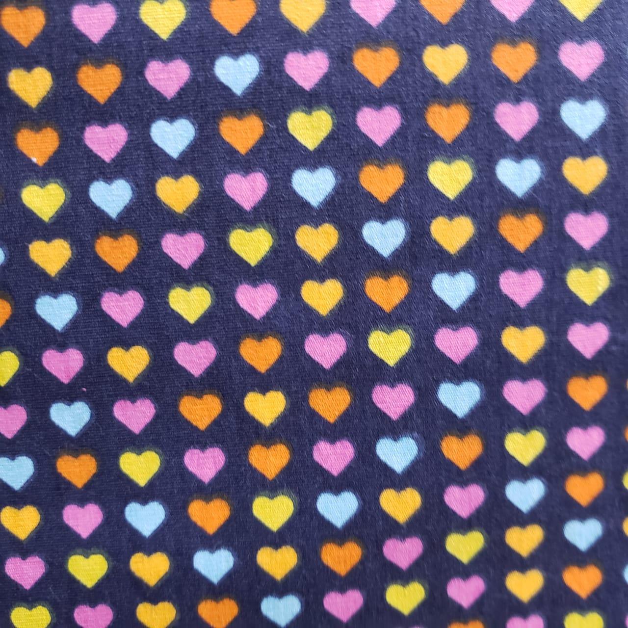 Corações Coloridos Fundo Marinho Of