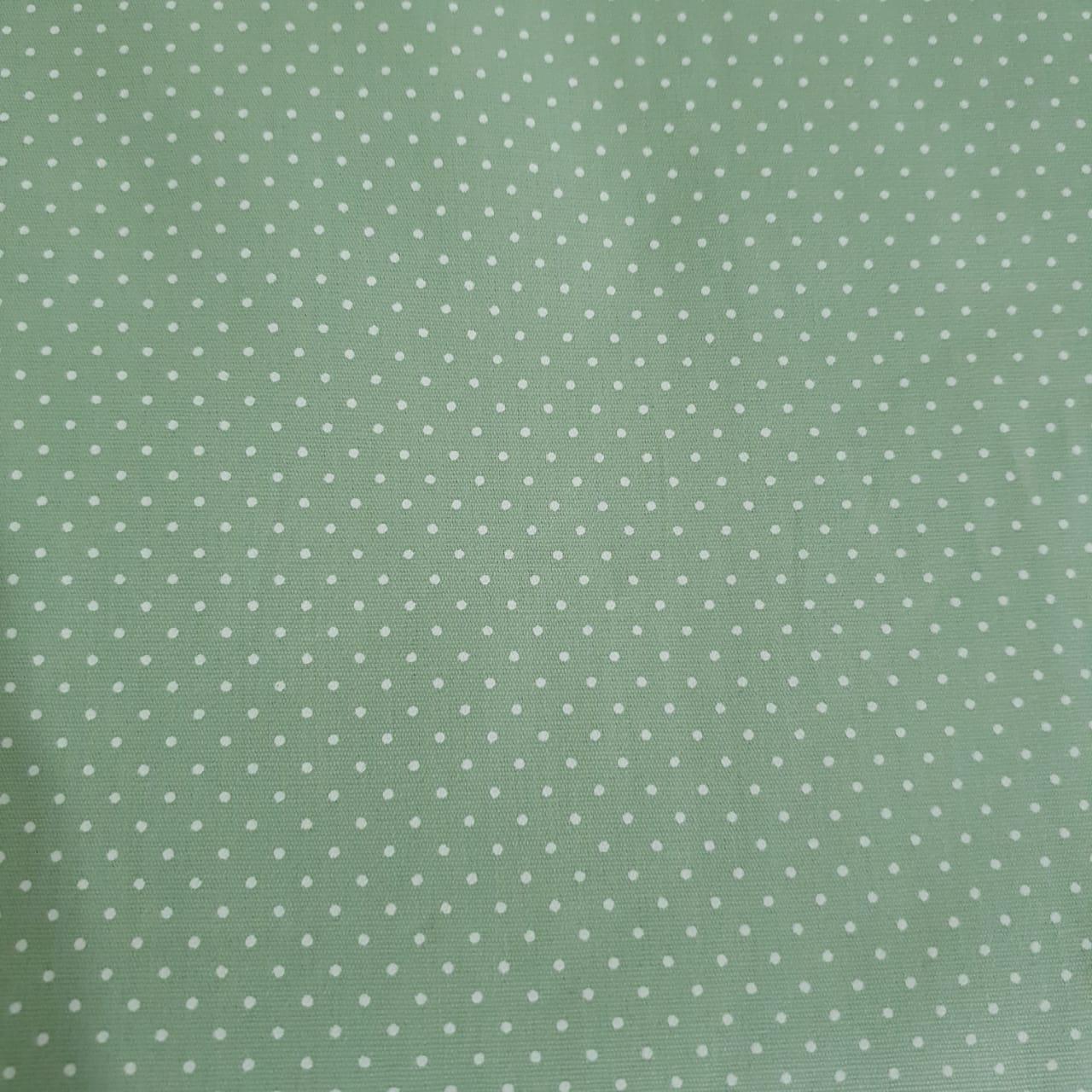 Tecido Tricoline Poá Verde claro OF