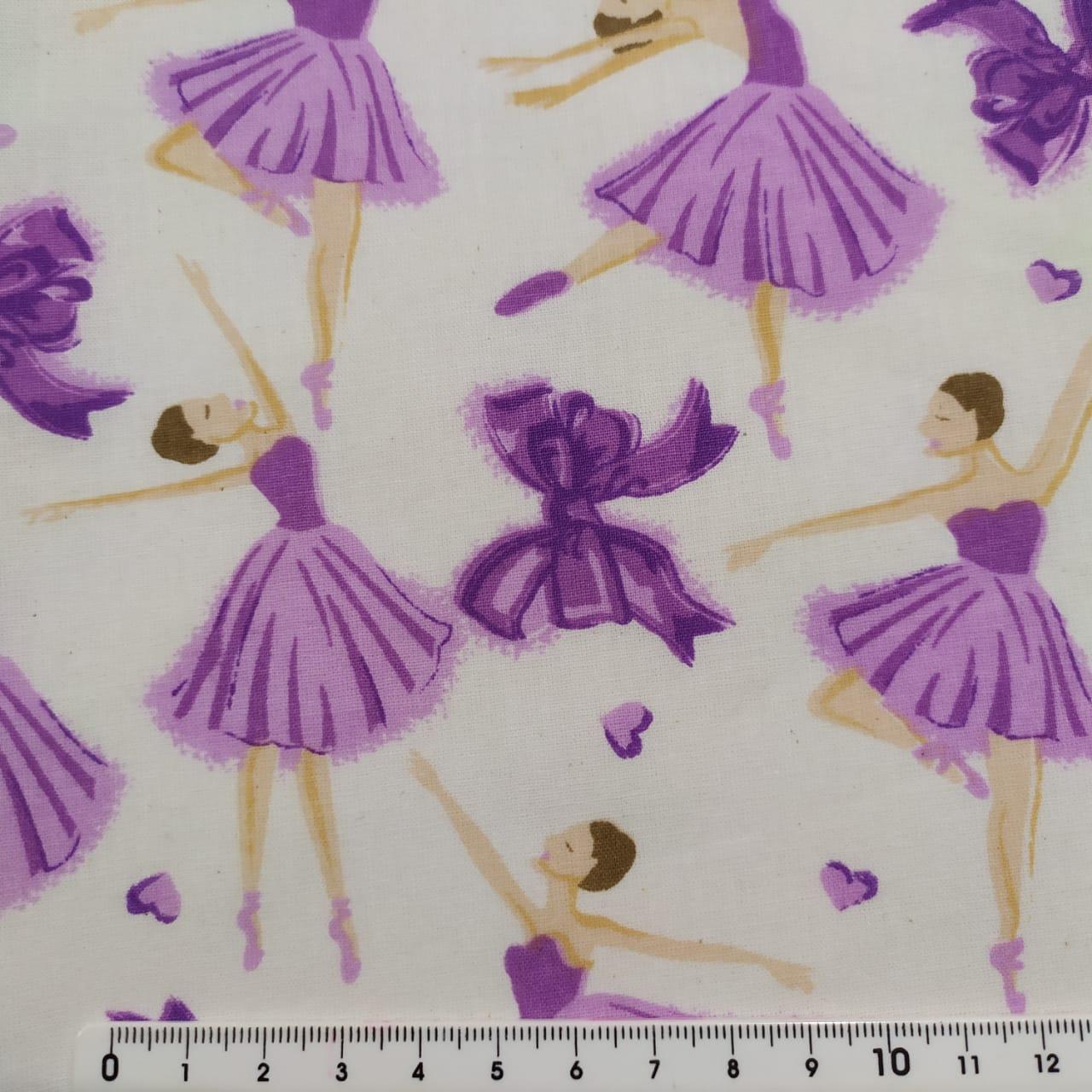 Tecido Tricoline Bailarina Lilás