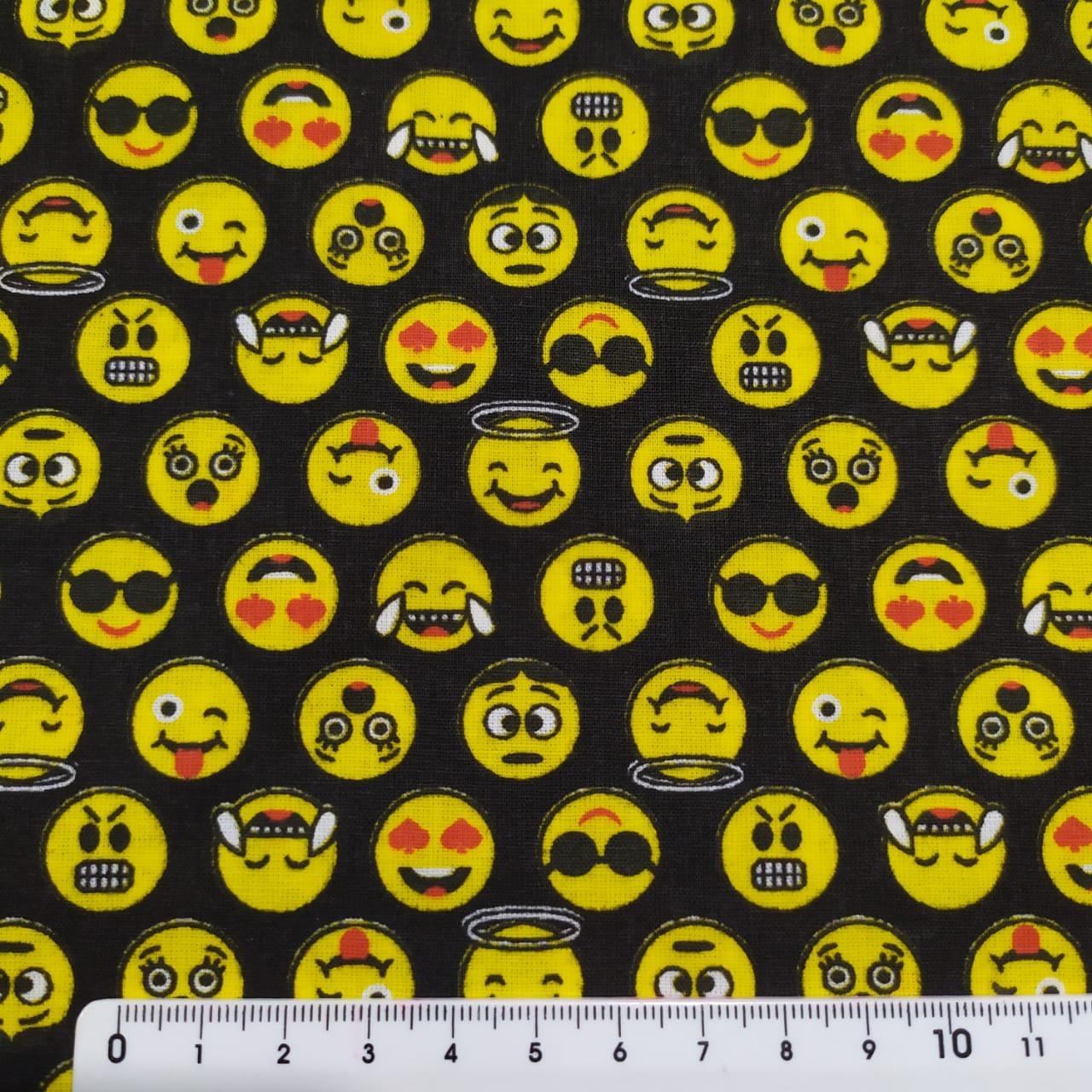 Tecido Tricoline Emojis xD