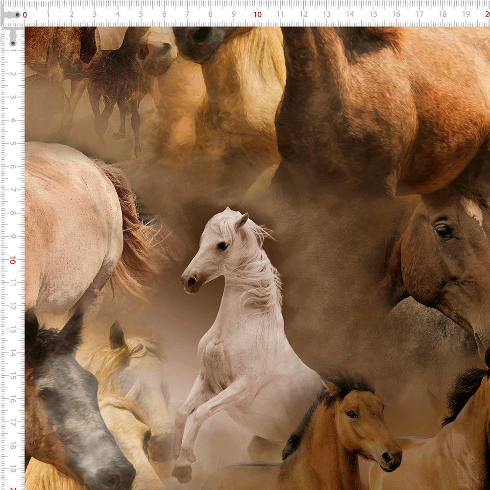 Tecido Tricoline Cavalos