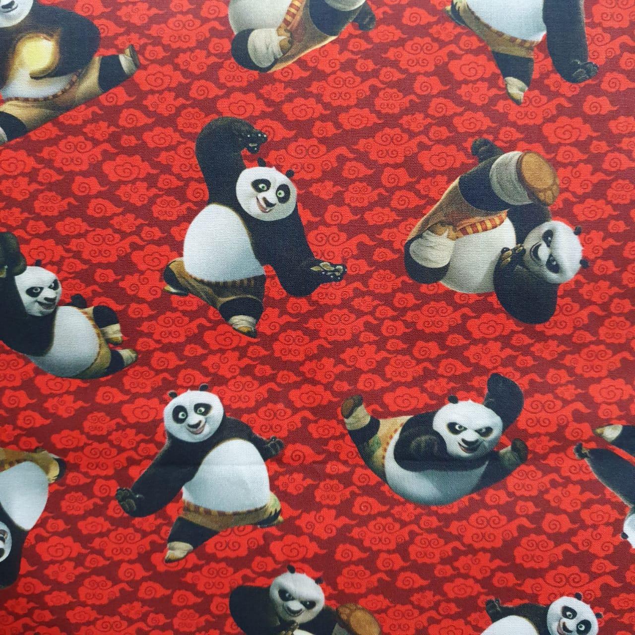 Tecido Tricoline Kung Fu Panda