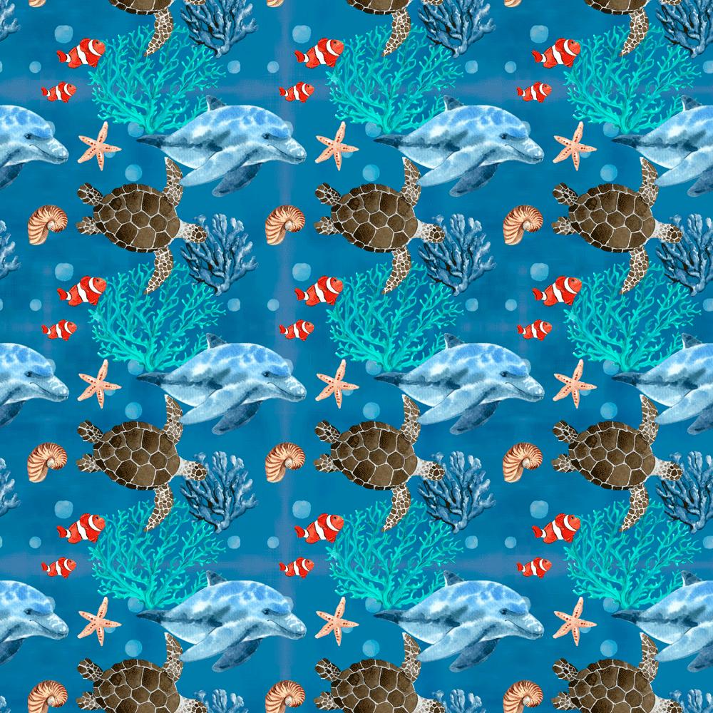 Tecido Tricoline Golfinhos