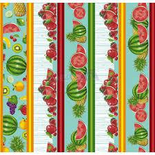 Tecido Tricoline Barrado Salada De Frutas Verde