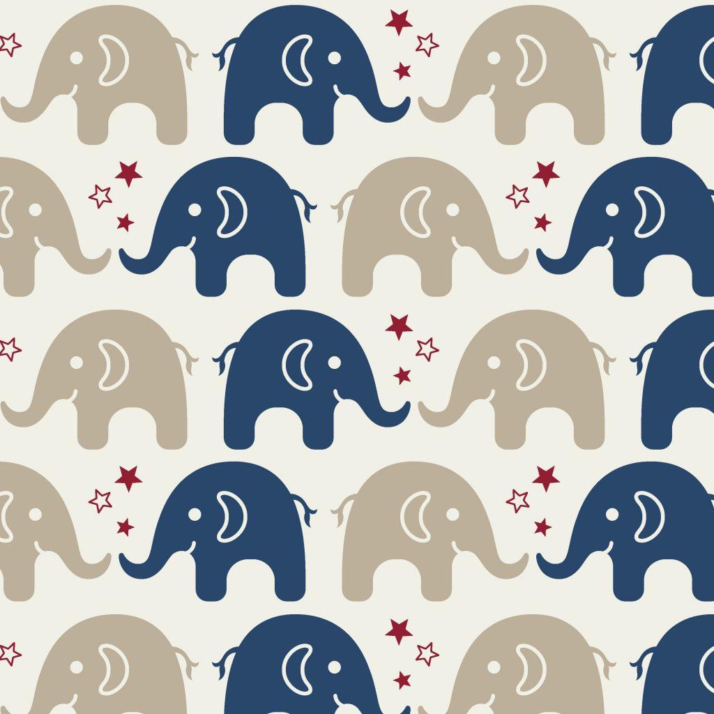 Elefantes Azul Escuro