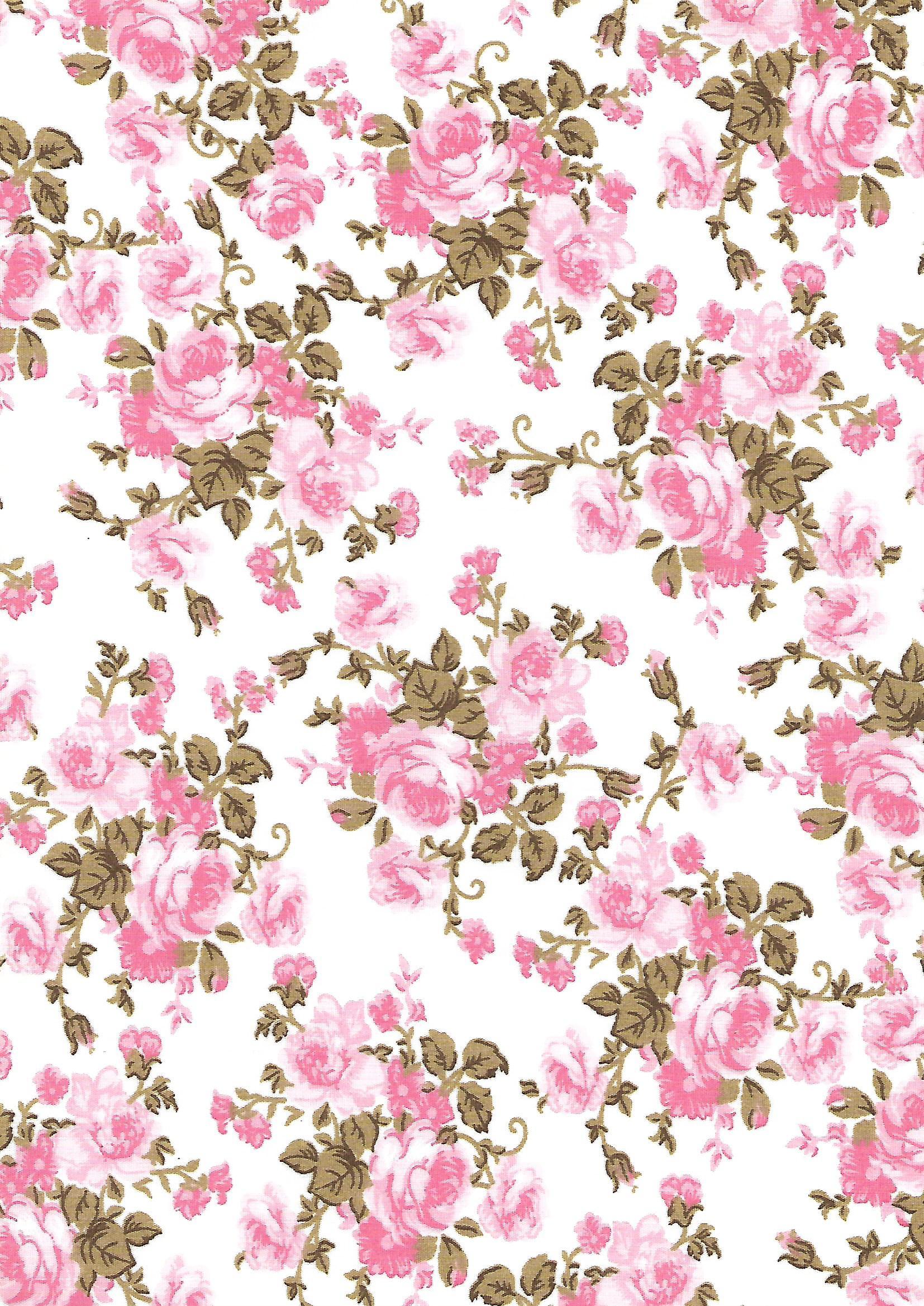 Floral Rosa Fundo Branco