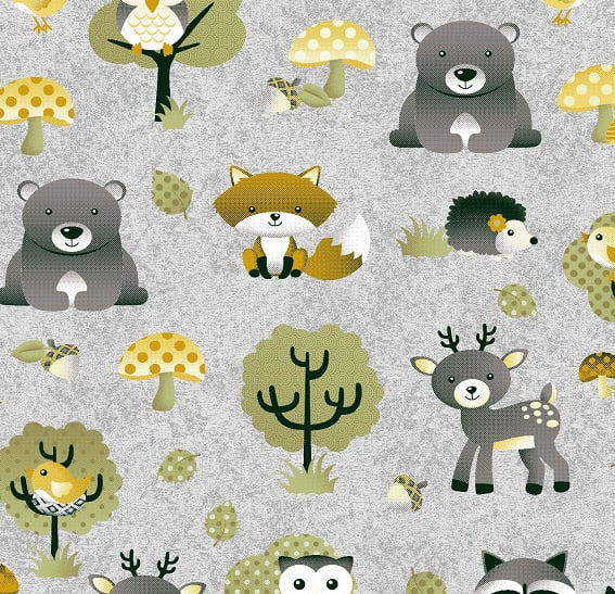 Floresta Cinza com Amarelo