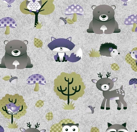 Floresta Cinza com Lilás