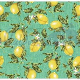 Tecido Tricoline Limão Siciliano Tiffany