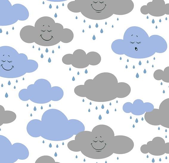 Nuvem Azul e Cinza
