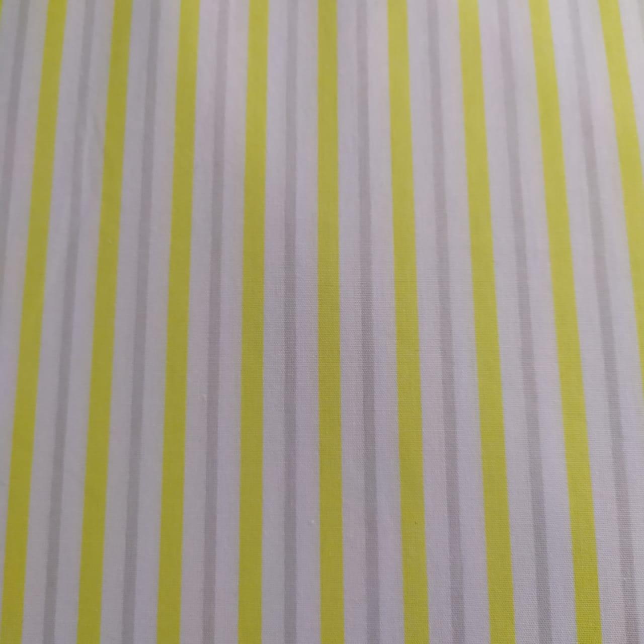 Tecido Tricoline Listra Amarela