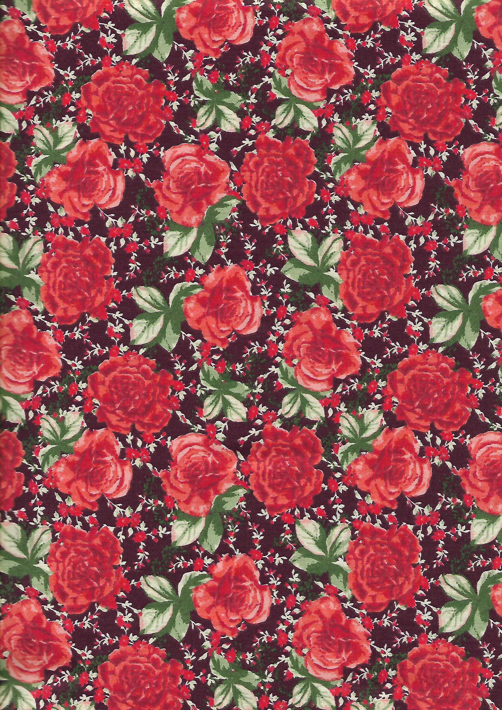 Rosas Fundo Bordô