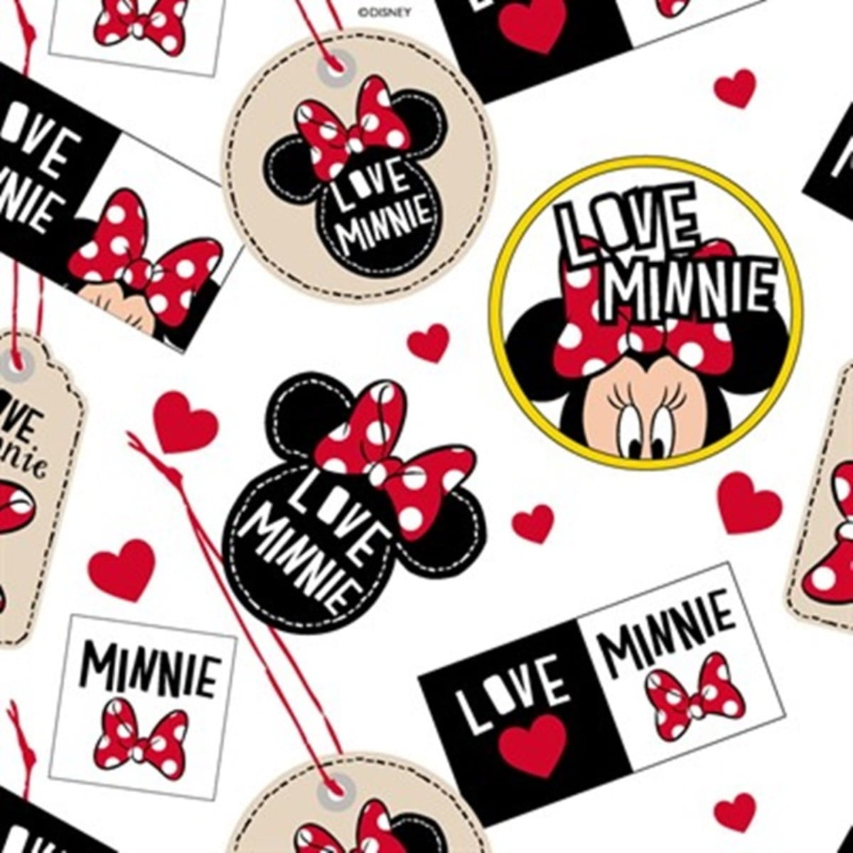 Tecido Tricoline Minnie Love Minnie