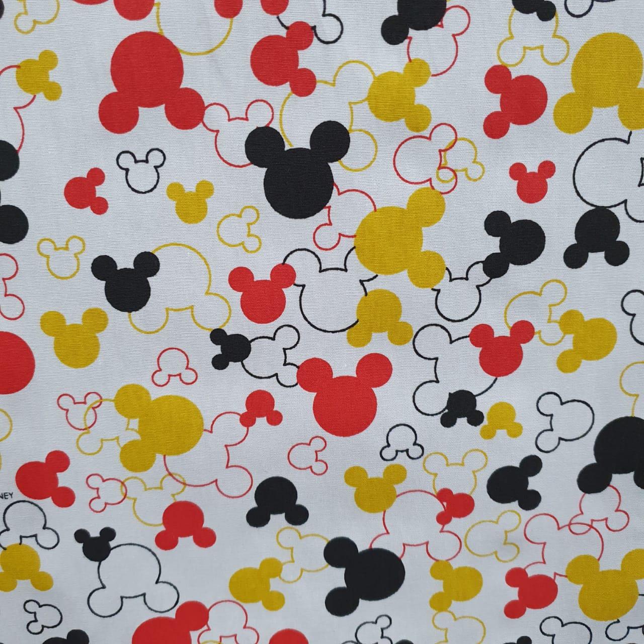 Tecido Tricoline Silhueta Disney