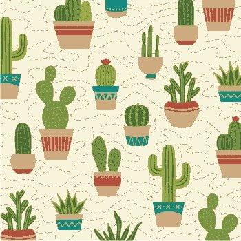 Tecido Tricoline Cactus Bege
