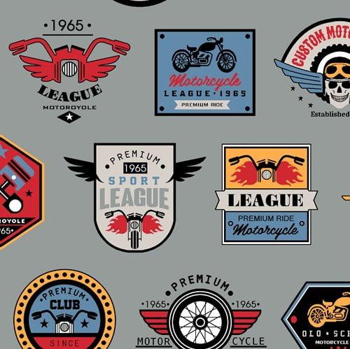 Clube de Motociclista cinza
