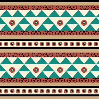 etnico geometrico verde