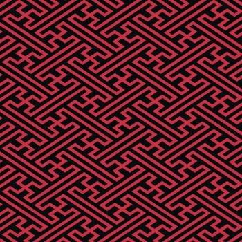 Tecido Tricoline Geométrico Oriental Vermelho