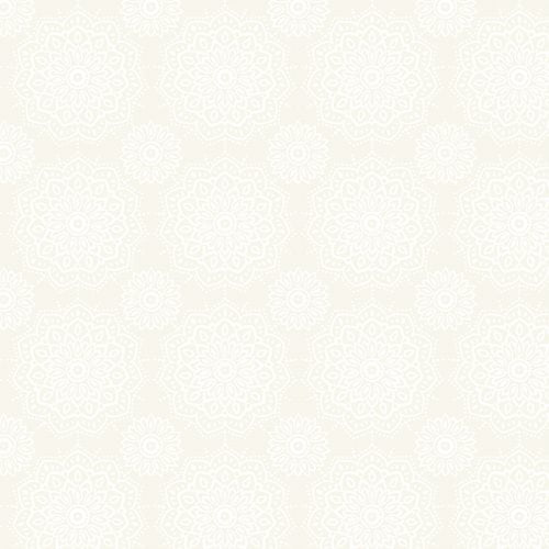 Tecido Tricoline Mandala Namastê Branco