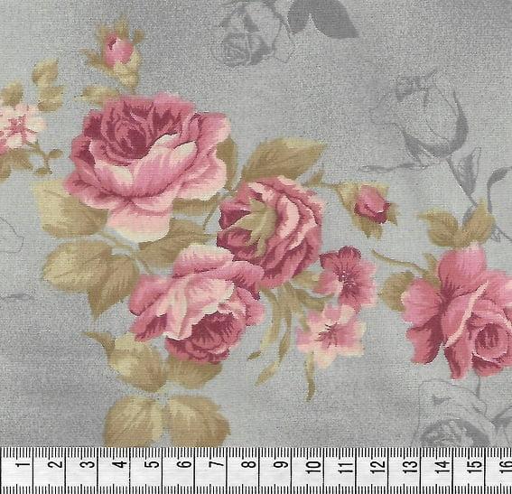Rosas Grandes Cinza Claro