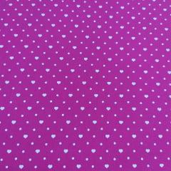 Coraçãozinho e Póa Fundo Pink