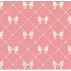 Tecido Tricoline Laços Médios Rosê