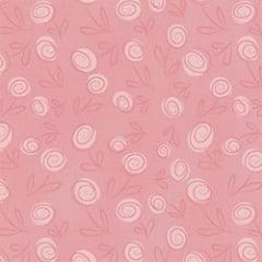 Floral Doodle Rosa Bebe