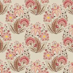 Floral Jacobean Creme