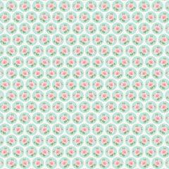 Tecido Tricoline Rosinhas no Circulo