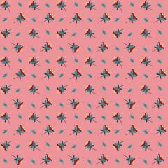 Tecido Tricoline Mini Flores Rosé