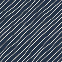 Tecido Tricoline Night Blue Diagonal
