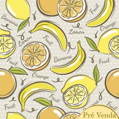 Tecido Tricoline Yellow Fruits