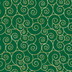 Tecido Tricoline Caracol Verde