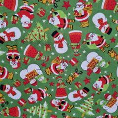 Tecido Tricoline Natal Feliz