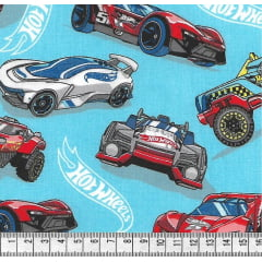 Tecido Tricoline Hot Wheels