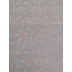Arabesco Branco com Rosa Claro of