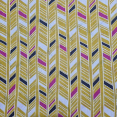 Tecido Tricoline Geo Amarelo