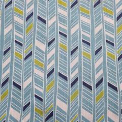Tecido Tricoline Geo Azul