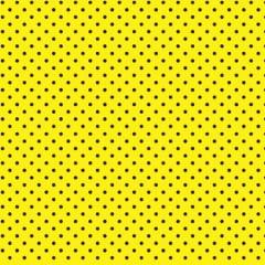 Tecido Tricoline Poá Preto Fundo Amarelo