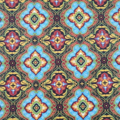 Tecido Tricoline Mandala