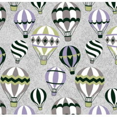 Balões Cinza com Lilás