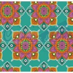 Tecido Tricoline Coleção Talismã - Mandala Tiffany