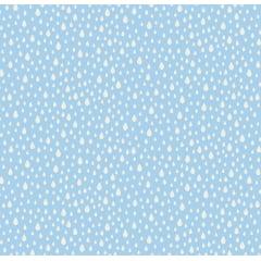 Tecido Tricoline Gotas Azul Claro