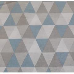 Tecido Tricoline Losango Médio Azul Claro